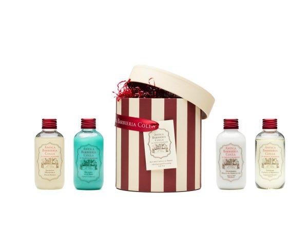 Cappelliera cura dei capelli e della barba rasata- Aftershave & grooming gift box